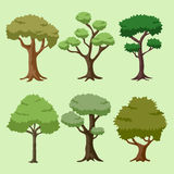 Cartoon Vector Tree Royalty Free Stock Photo