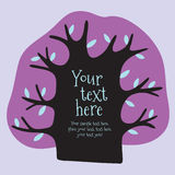 Cartoon vector tree with place for text. Stock Photo