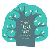 Cartoon vector tree with place for text. Stock Image