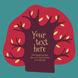 Cartoon vector tree with place for text. Stock Photography
