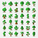 36 Cartoon vector trees Stock Photo