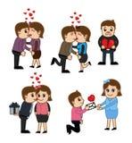 Cartoon Vector Valentine`s Day Graphics Stock Photo