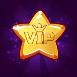 Cartoon vector VIP Gold star Stock Images