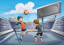 Cartoon vector volleyball sport with separated layers for game and animation Royalty Free Stock Images