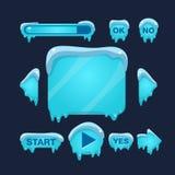Cartoon Vector Winter Game User Interface Stock Photo