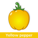 Cartoon Vegetable - Big Yellow Pepper Stock Photography