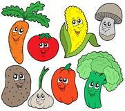 Cartoon vegetable collection 1 Stock Photos