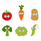 Cartoon vegetable cute Royalty Free Stock Photo
