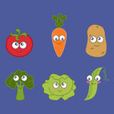 Cartoon vegetable cute Royalty Free Stock Photo