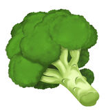 The Cartoon vegetable- illustration for the children - XXL size Royalty Free Stock Photography