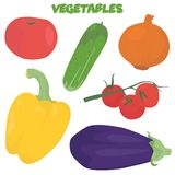 Cartoon vegetable set Royalty Free Stock Photos