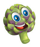Cartoon vegetable smiling and looking artichoke Royalty Free Stock Photos