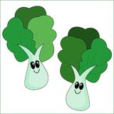Cartoon Vegetables. A cute cartoon vegetables couple Royalty Free Stock Photos