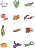 Cartoon vegetables Stock Image