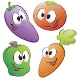 Cartoon Vegetables. A set of cartoon vegetables. Isolated objects for design element Royalty Free Stock Photos