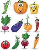 Cartoon vegetables and fruits.vector Royalty Free Stock Photos