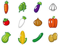 Cartoon vegetables icon Stock Photos