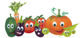Cartoon Vegetables Royalty Free Stock Image