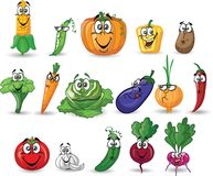 Cartoon vegetables,vector Stock Image
