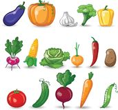Cartoon vegetables,vector Stock Photo