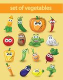Cartoon vegetables,vector Stock Photos