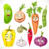 Cartoon vegetables smiles Royalty Free Stock Photos
