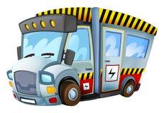 Cartoon vehicle - caricature - electricity car Stock Photography