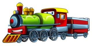 Cartoon vehicle - locomotive - caricature Royalty Free Stock Image