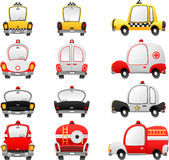 Cartoon vehicles Royalty Free Stock Photos