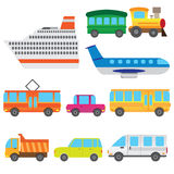 Cartoon vehicles. Stock Photos