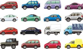 Cartoon vehicles Royalty Free Stock Image