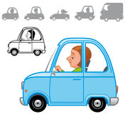 Cartoon vehicles series Stock Images