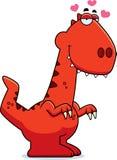 Cartoon Velociraptor in Love Stock Photo