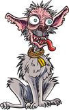 Cartoon very ugly dog. Isolated on white Royalty Free Stock Images