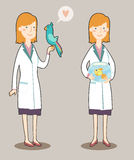 Cartoon veterinarian Royalty Free Stock Image