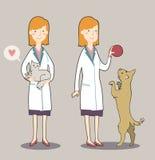 Cartoon veterinarian Royalty Free Stock Photography