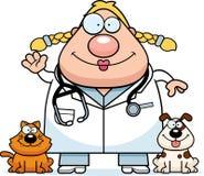 Cartoon Veterinarian Waving Royalty Free Stock Images