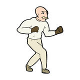 cartoon victorian boxer Royalty Free Stock Images