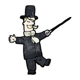 Cartoon victorian gentleman Stock Image