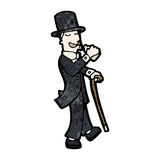 Cartoon victorian gentleman Stock Photos