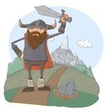 Cartoon viking Stock Photos