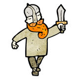 Cartoon viking Stock Image