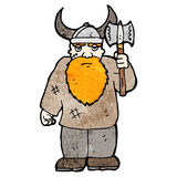Cartoon viking with axe Royalty Free Stock Photo