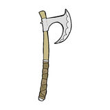 Cartoon viking axe Stock Images