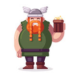 Cartoon viking with beer Royalty Free Stock Photography