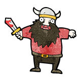 Cartoon viking with bloody sword Royalty Free Stock Images