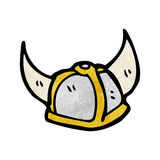 Cartoon viking helmet Stock Images