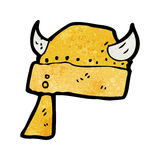 Cartoon viking helmet Royalty Free Stock Photos