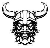 Cartoon Viking Mascot Stock Image