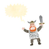 Cartoon viking shouting Stock Photo